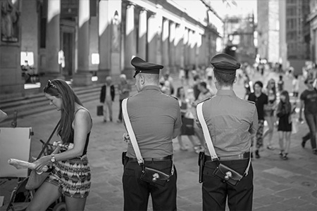 Policiers Italiens, Florence, Italie
